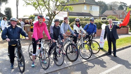Brainwave held their annual chartiy cycle back in April, attended by the former Lowestoft mayor Nick