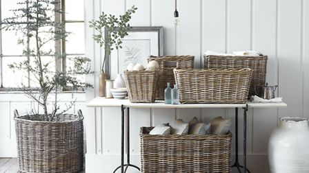 The Somerton Under Console Baskets, from £45, available from Neptune.com. PA Photo/Handout