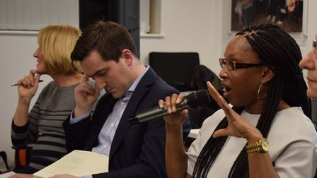 GP Coral Jones (left), Cllr Jonathan McShane and Samantha Campbell from the NEL STP. Photo: Gokhan B