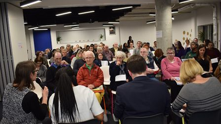 The meeting organised by Healthwatch Hackney to grill NHS chiefs. Photo: Gokhan Bozkurt