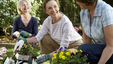 A group of people partaking in a gardening course together. PA Photo/thinkstockphotos