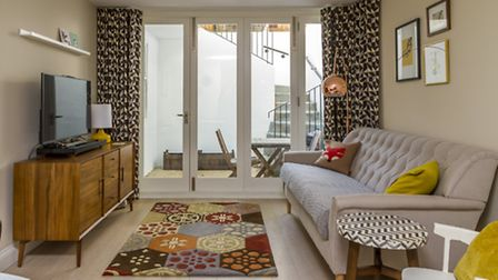 Bright accents and clashing patterns were key to creating interesting interiors