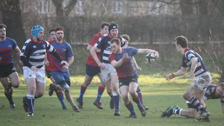 Captain Harry Marson in action for Old Streetonians