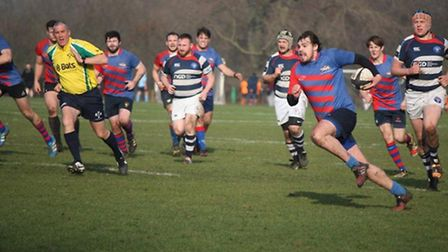 Eoin Fitzpatrick in action for Old Streetonians