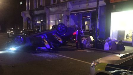 The crash in England's Lane Picture: TheWashNW3