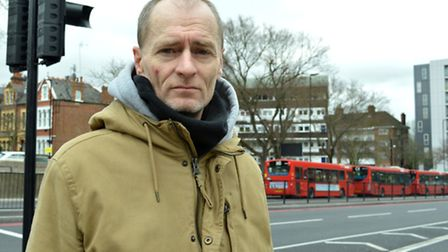 Chris Sparks, landlord of the Charlotte Despard pub in Archway Road, at the bus U-turn junction wher