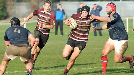 UCSOB's Sam Turton breaks forward against London French. Picture: NICK COOK