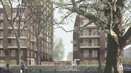 An artist's impression of the new Tower Court Estate near Clapton Common. Picture: Hackney Council