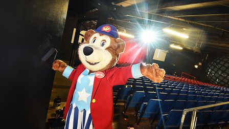 Woody Bear in Woody's Castle at Pleasurewood Hills ahead of the Christmas show. Picture: ANTONY KELL