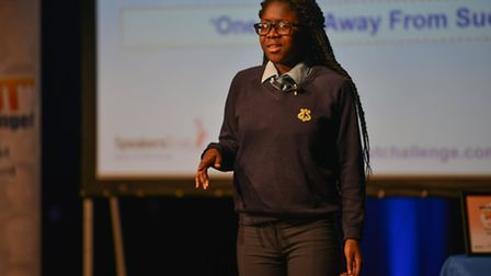 Elsie Ama Ampomah, from Gladsmore Community School, came in third place. Credit: Tony Preece