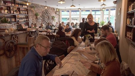 Pivaz in Chatsworth Road, 'a great place for a relaxed date but also for larger groups'.