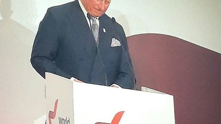 Prince Charles at the World Jewish Relief dinner at London'sguildhall
