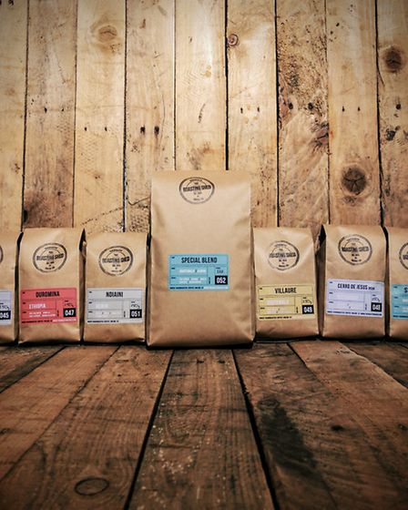The coffee range at the Roasting Shed