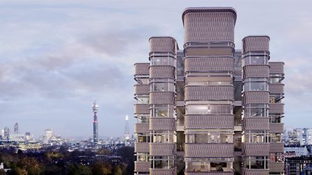 A leaf motif design will be overlaid over the interlocking bays of the 10 storey tower