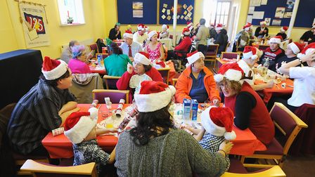 A previous Christmas Day lunch at the Salvation Army Citadel in Lowestoft. Picture: Archant library.
