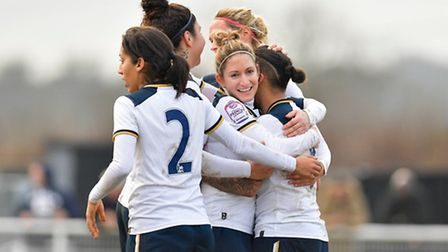 Spurs Ladies captain Jenna Schillaci (centre). Picture: Wusphotography.com