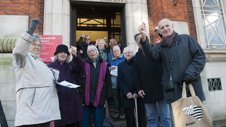 Pensioners protest at Muswell Hill Library