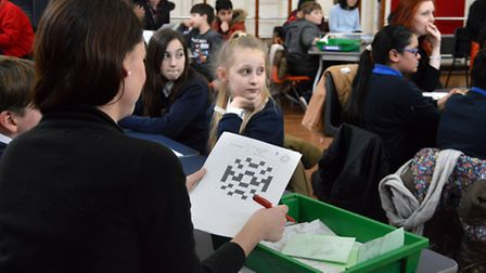 Eleanor Palmer Primary School hosting12 schools at a maths challenge event.
