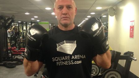 Peter Crimmins in the gym Picture: Natasha Nother