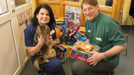Wangford veterinary clinic has launched its annual Santa Paws appeal collecting food, toys and trea
