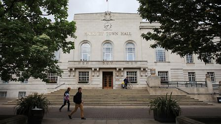 Work has been going on at Hackney Town Hall for more than two years. Picture: Isabel Infantes