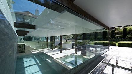 A subterranean pool in a glass box proved to be a technical challenge