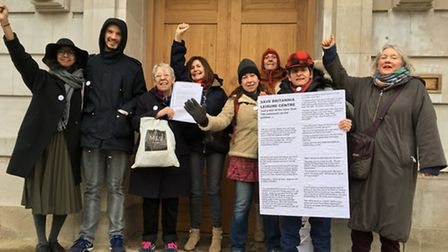 Campaigners hand in a petition, calling on Hackney Council to save the Britannia Leisure Centre