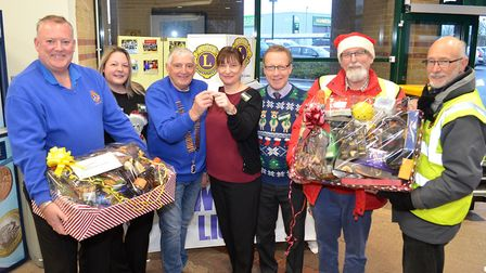 Lowestoft Lions members were in Morrison's Superstore in Tower Road, Pakefield offering shoppers a c