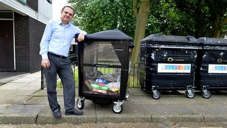 Cllr Meric Apak, who is keen to boost recycling in Camden