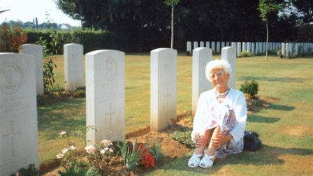 Amelia Sawyer visited her husband's war grave in Normandy every year