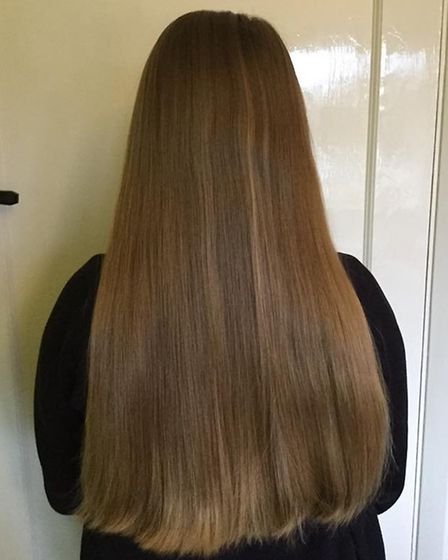 Charlotte's hair before it was cut for the Little Princess Trust donation. Picture: Courtesy of Bev