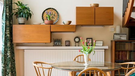 The Modernist storage space in the living dining area