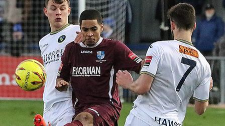 Tommy Tejan-Sie scored Wingate & Finchley's winner against Leiston. Picture: MARTIN ADDISON