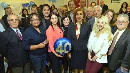 40th anniversary celebration at the Turkish Cypriot Cultural Association. Pictured from left, chairm