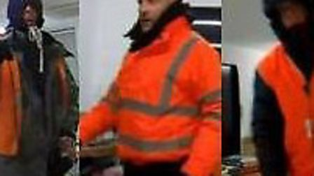 Police want to speak to these three men over the raid.