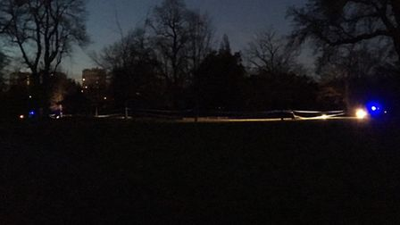 Police tape in Victoria Park at the scene of the attack on January 13. Picture: @LundunFeeldz