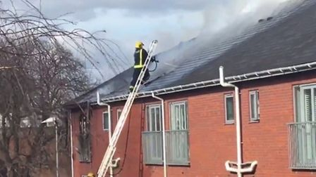 Fire fighters tackled the blaze