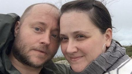 Fundraising: Maria Campbell with husband Gary. Picture: Campbell family