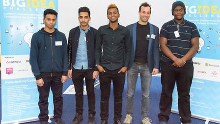 Hackney Community College students who have come up with Scrinkey.