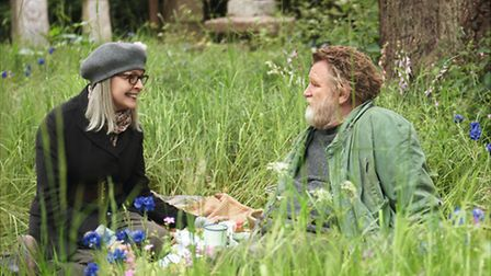 In the film, an American widow played by Diane Keaton stumbles upon a hermit, played by Brendan Glee