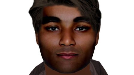 Suffolk Police have issued an E-fit image of a man they want to speak to after a woman was raped in