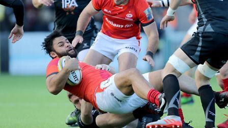 Saracens Billy Vunipola returned to action against Newcastle Falcons. Picture: RICHARD SELLERS/PA WI