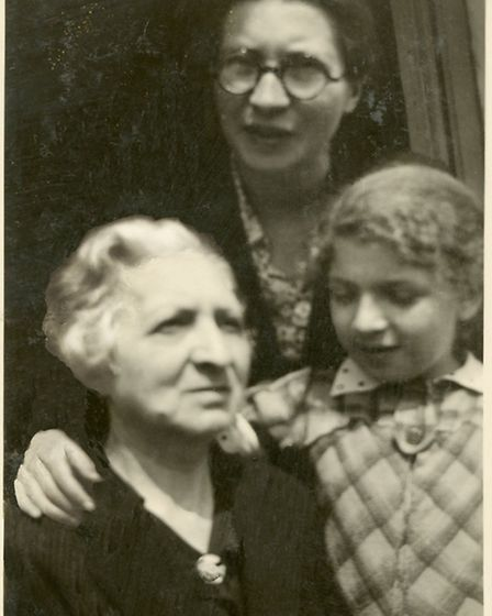 Jasia with her grandmother Lucja and mother Maryla