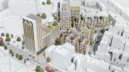 View of the scope of the Peel Project in South Kilburn