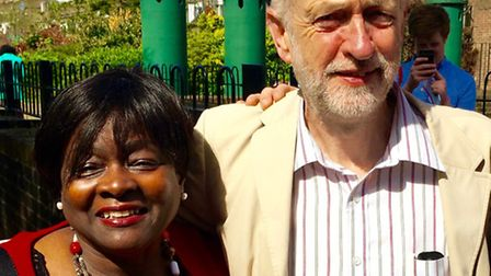 Jennette Arnold with Jeremy Corbyn in Islington