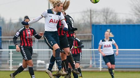Wendy Martin got the only goal of the game as Tottenham Ladies won away at Charlton Athletic. Pictur
