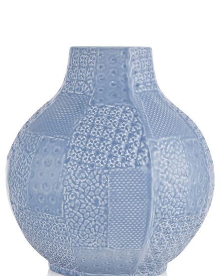 Ceramic patchwork vase, �20, available from Next