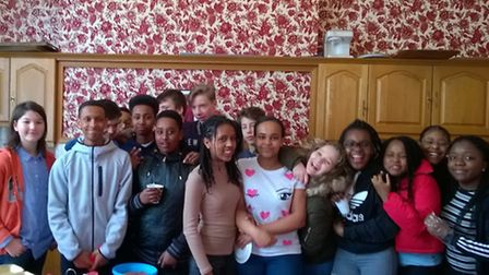 The St Joseph's Church youngsters with their cakes Picture: St Josheph's Church