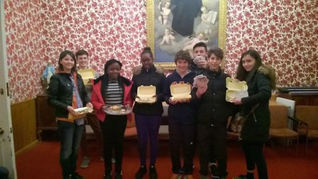 The St Joseph's Church youngsters with their cakes Picture: St Joseph's Church