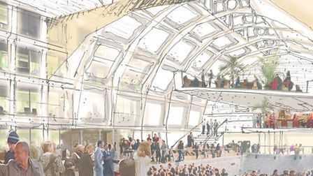 An artist's impression of how the building could look if developed by London and Regional. Picture: